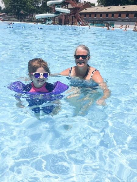 Swimming with Grandma