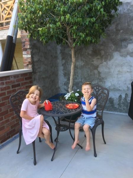 Dessert on the patio