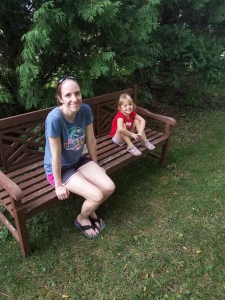 Exploring a nearby arboretum