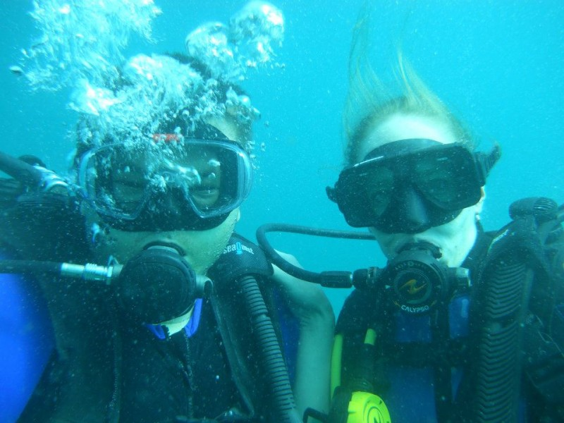 Our first time SCUBA diving together
