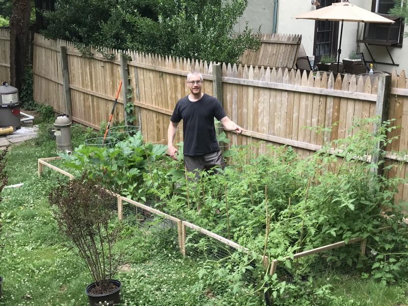Greg in the Vegetable Garden