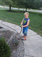Watering new landscaping
