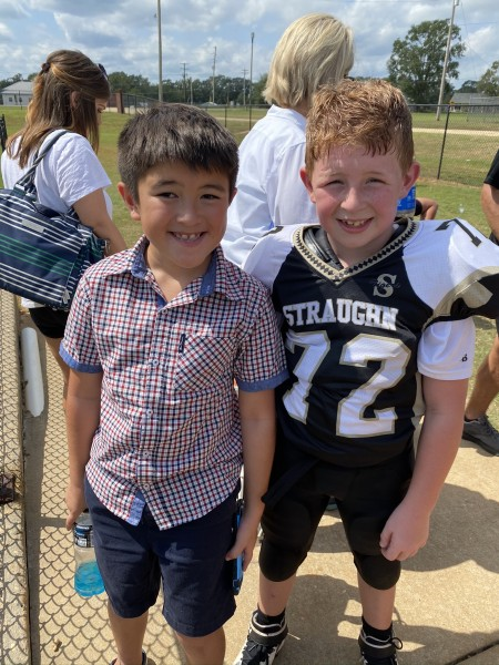 Kayden's best friends football game