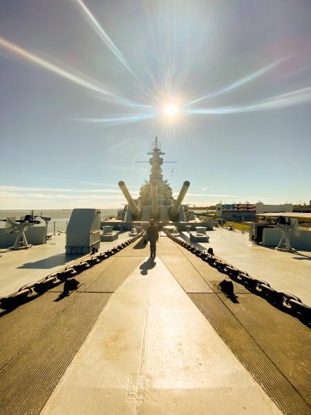 Visiting the USS BATTLESHIP