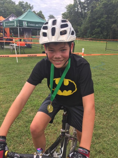 Colin loved mountain biking for his junior high team and still bikes for fun.
