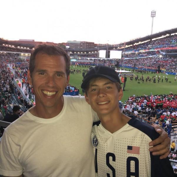 Jesse traveled with Lleyton and his soccer team representing USA two summers ago to Sweden for the World Cup tournament!