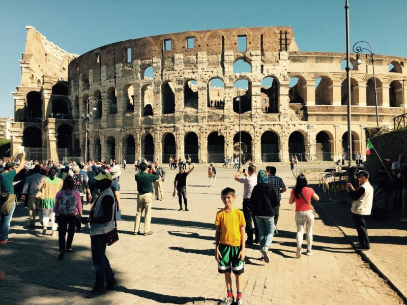 Jeremiah learned about Rome extensively in school and was so excited to visit all of the sights!