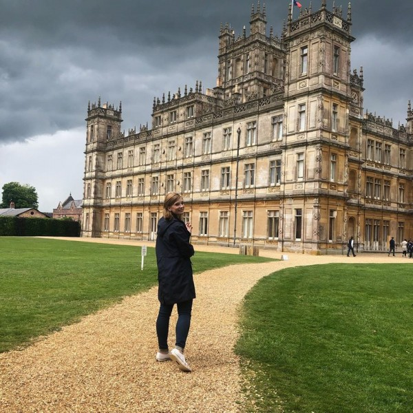 Whitney's dream came true with a visit to Downtown Abbey (aka Highclere Castle)