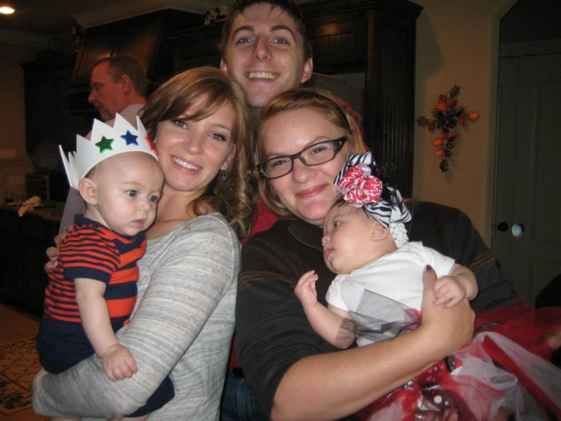 Whitney's family all live within 10 miles of our house and get together every single holiday to eat, see each other, and snuggle babies!