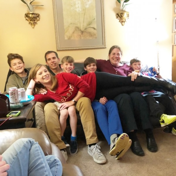 Whitney's family get together plus Jesse's oldest sister, Gretchen, made this picture possible!