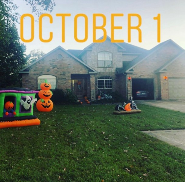 Halloween is one of the two best days of the year and our house gets more elaborately decorated each year!