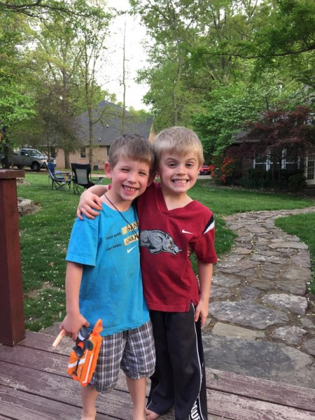 Jacob and our neighbor, Collier, were about 5 in this photo and they're still best friends 5 years later!