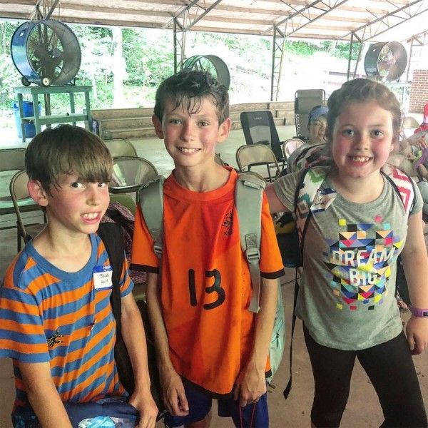 Jeremiah, Jacob, and their cousin Macy go to bible camp on the same week every year together and carpool so we get even more time with her!