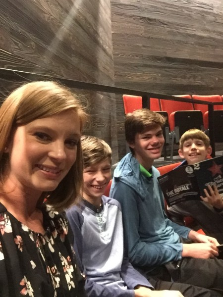 Whitney loves the theatre and took the boys to see A Christmas Carol this year