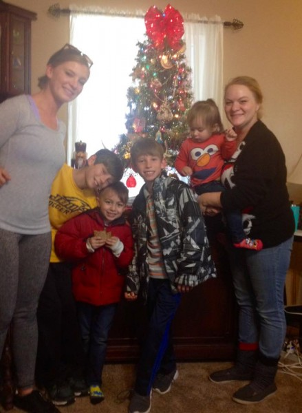 Whitney's sister and her kids go over to their grandparent's house every year to help them put up their Christmas decorations and cookies are always a nice reward for a job well done!