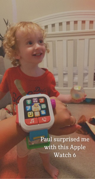 Our godson got me that sweet apple watch 6
