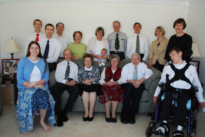 Here we are with other family members after Austin's baby blessing.