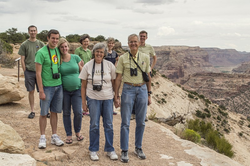 We often go on family vacations with Rebecca's family. Here we are at a view point of the San Rafael Swell.