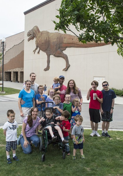 Here we are with some of Nate's family after visiting the dinosaur museum with them