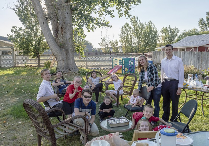 Our backyard is great for things like birthday parties with family.