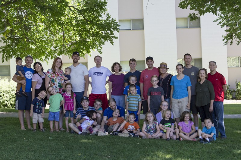 Nate's family is particularly large. Here we are with part of his immediate family during a reunion.
