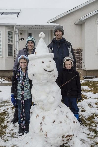 Ho Ho Ho! A white Christmas gave us the chance to build a festive snowman together as a family.