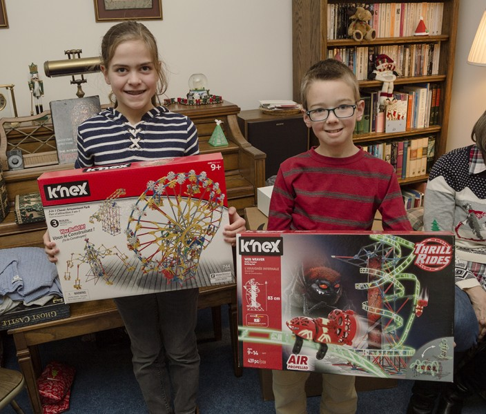 Lets make something! Our kids love to build and create...so K'nex and Legos make ideal gifts for them to work with!