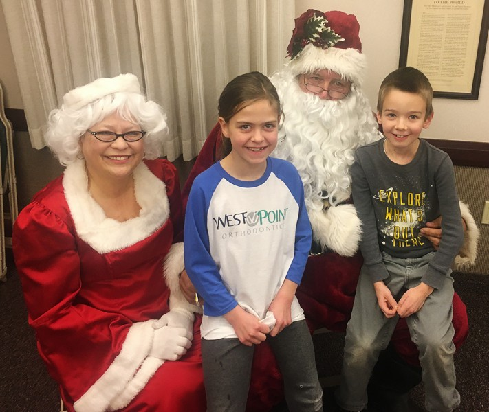We love it when Santa and Mrs. Clause visit our neighborhood!