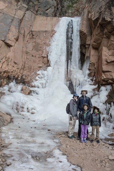 Brrrh! This short November hike to a waterfall was cold but still beautiful!