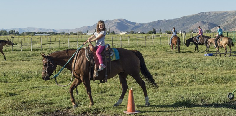 Rebecca is not the only one who enjoys horseback riding...so does Emma...
