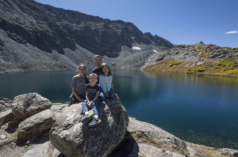 Here we're at Mohawk Lake after a challenging 3.5 mile hike there...of course then we had to hike back down.