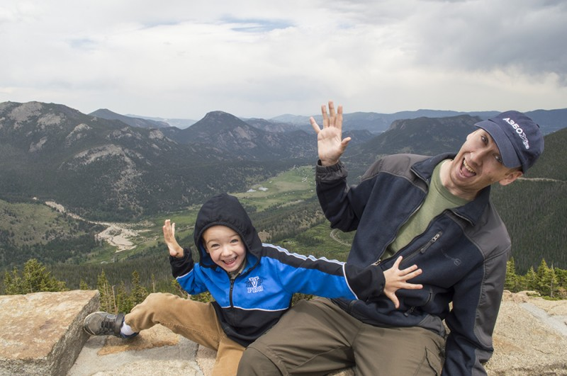 Austin and Nate being goofy at Rocky Mountain National Park.