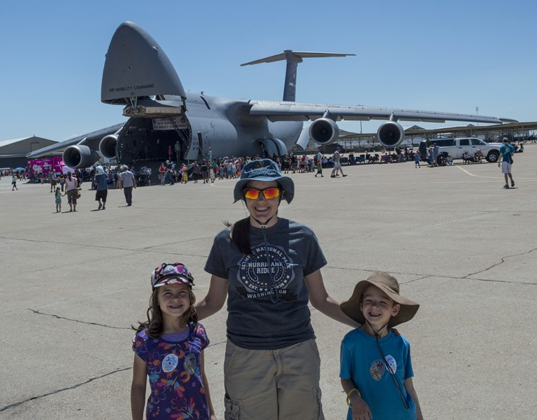 Here we are outside the plane at the Hill Air Force Base Air Show