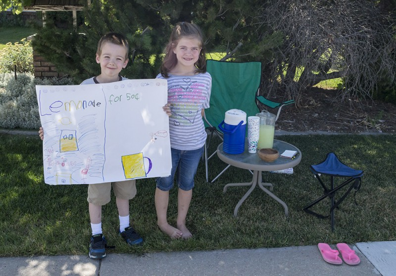 Austin and Emma decided they wanted to do a lemonade stand. It was a big success! But then, who could resist such charm?