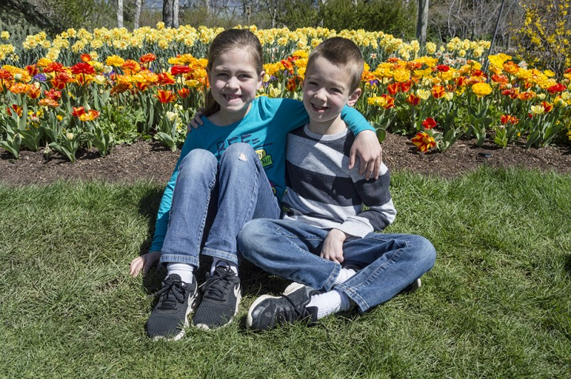 Bright tulips are fun to see, so we are grateful the Grandma & Grandpa frequently invite us to go to the tulip festival with them.