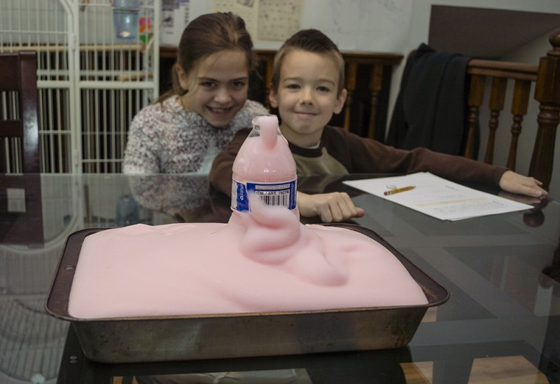 What is this stuff!?! Elephant toothpaste of course...at least that is the name given to this foamy substance that we created together in this fun activity/experiment.