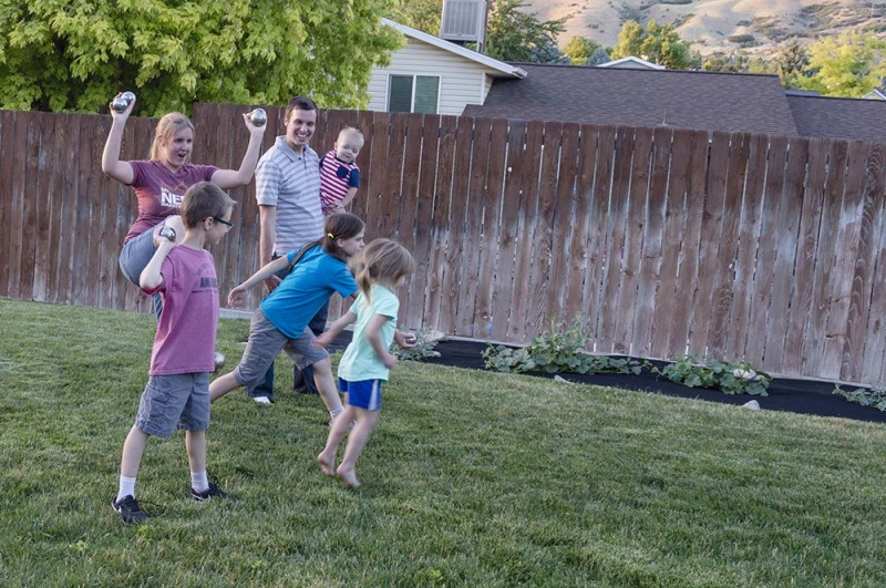 Bocce/Boules is a fun game played in France and Italy, two places family members have served missions. Now we enjoy playing this game as a family.
