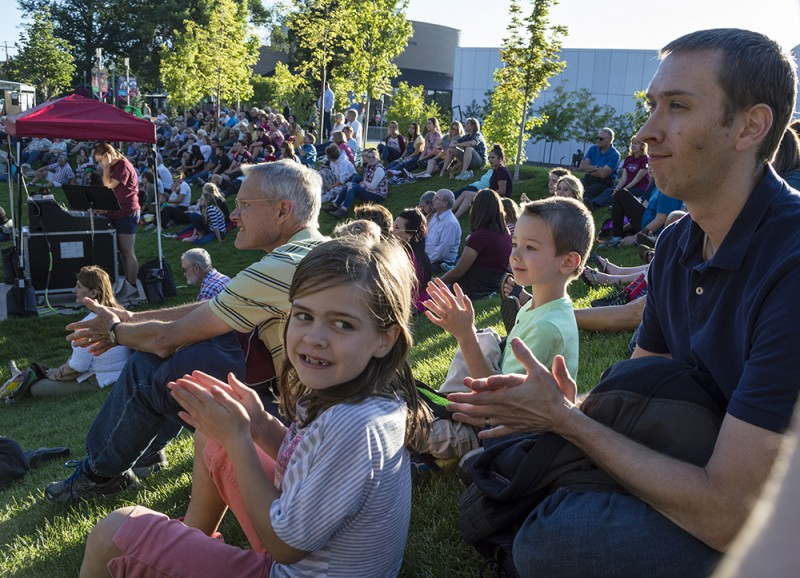 """Sometimes we go the the Shakespeare Festival. They have a free """"green show"""" beforehand, which the kids enjoyed seeing with us."""