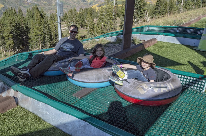 We got an adventure pass at a ski resort during our fall vacation. flying down the tubing runs was a blast.