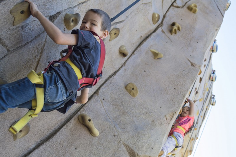 Rock climbing is something we all enjoy on an occasion. Nate is especially good at scaling rock walls.
