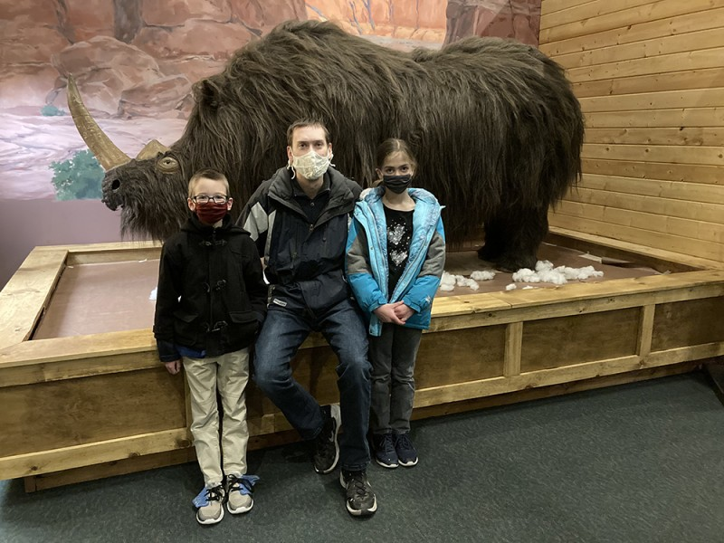 Feeling chilly? This woolly rhino isn't with his thick coat! We feel blessed to live in an area with lots of family friendly places like this museum.