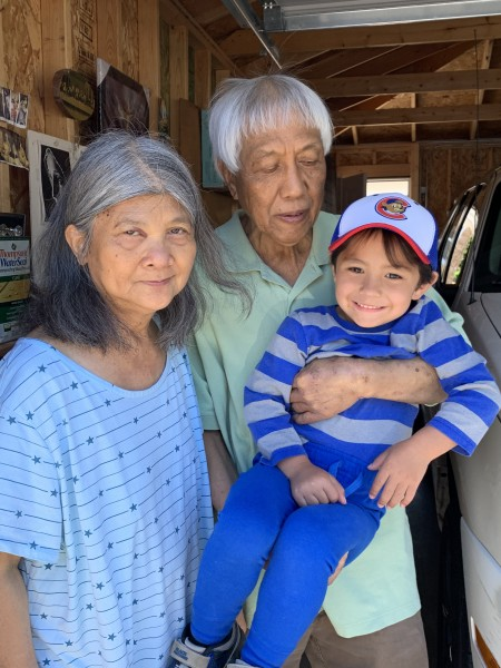 Joey with Lolo and Lola(Grandma and Grandpa)