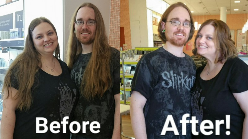 We donated our very long hair together.
