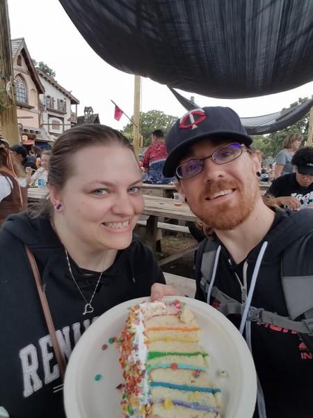Unicorn vow renewal wedding cake!