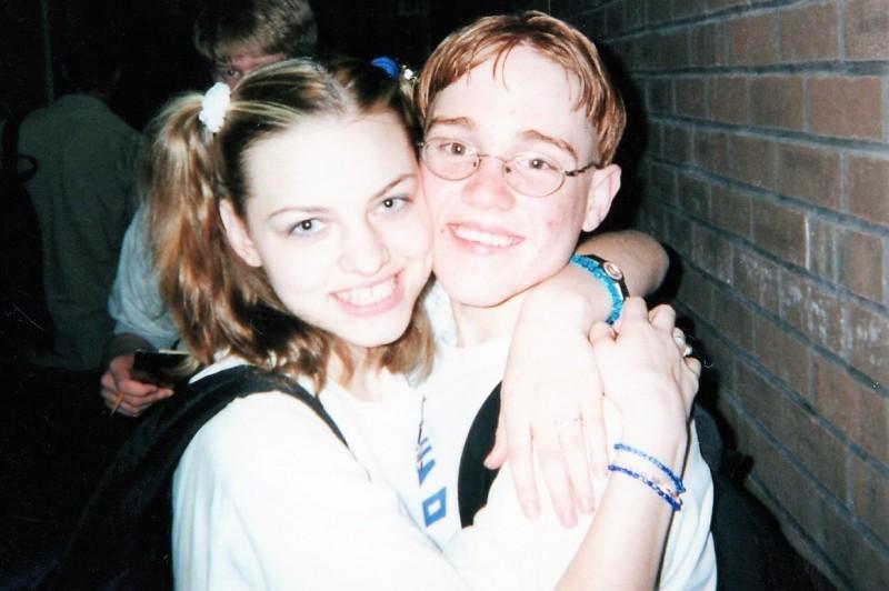 Brian and Jessica HS Pride day - 9th grade.