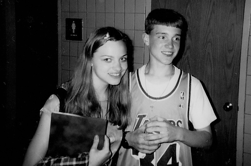 Brian and Jessica when they first started dating - 8th grade.
