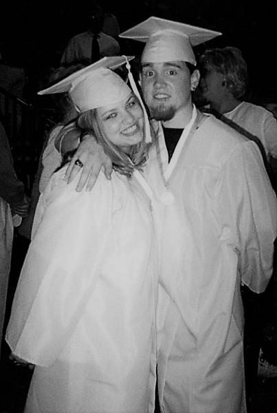 Brian and Jessica at Graduation - 12th grade.