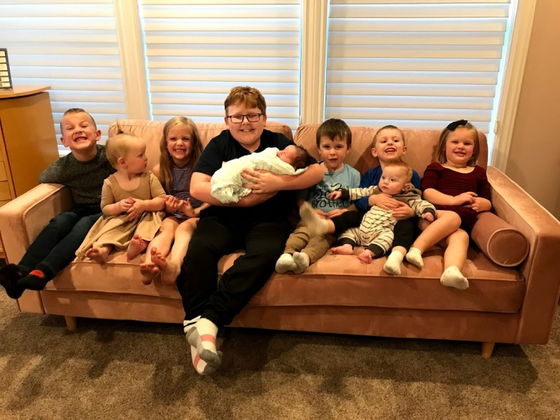 This is Katie's family.  All cousins on either side sure do love each other!