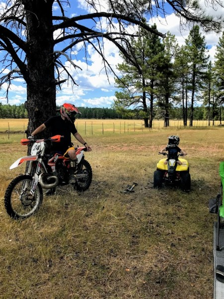 Camping is one of our favorite family hobbies and we love to ride together as a family.