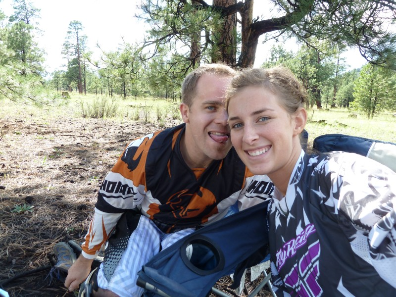 Dirt biking and camping are a couple of the many hobbies we enjoy doing together.